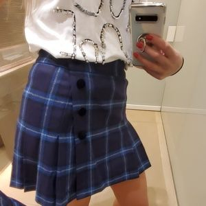FAY mini plaid skirt